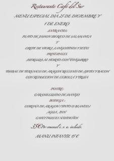 Comida de Navidad y Año nuevo (días 25 de diciembre y 1 de enero)