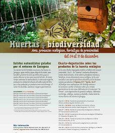 Jornadas sobre la huerta de Zaragoza de SOE/BirdLife (del 23 al 31 de diciembre)
