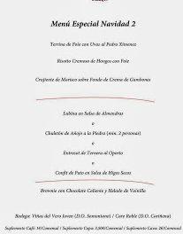 Menús navideños en Taberna Irulia (hasta el 6 de enero)