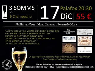 Cata de champagnes por La Papila Crítica (martes, 17)