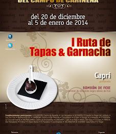 I Ruta de Tapas&Garnacha de la Comarca del Campo de Cariñena (hasta el 5 de enero)