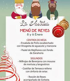 Menú de Reyes en La Vueltika (5 y 6 de enero)