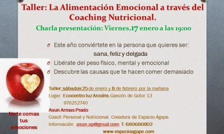 Taller La alimentación emocional a traves del coaching nutricional (sábados, 25 de enero y 8 de febrero)