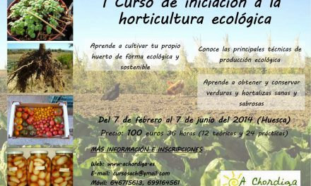 Curso de horticultura ecológica (del 7 de febrero al 7 de junio)
