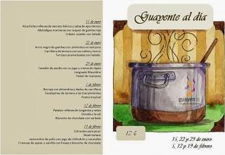 Menús en Guayente (miércoles, hasta el 19 de febrero)