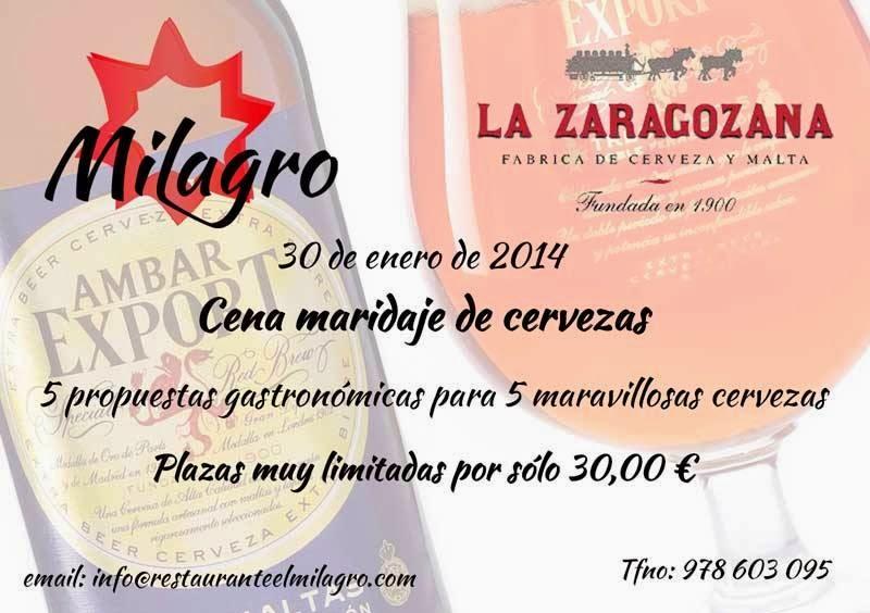 Cena maridada con cerveza (jueves, 30)