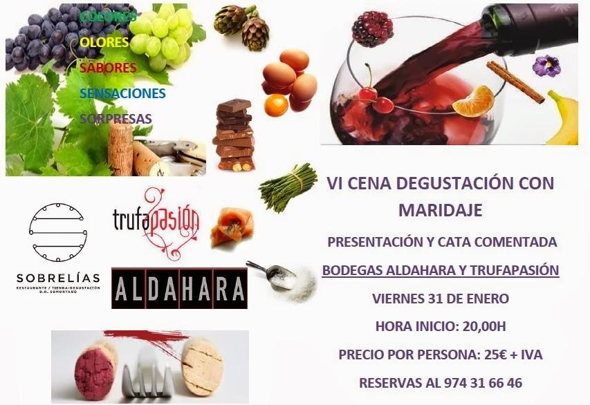 Cena degustación con maridaje (viernes, 31)