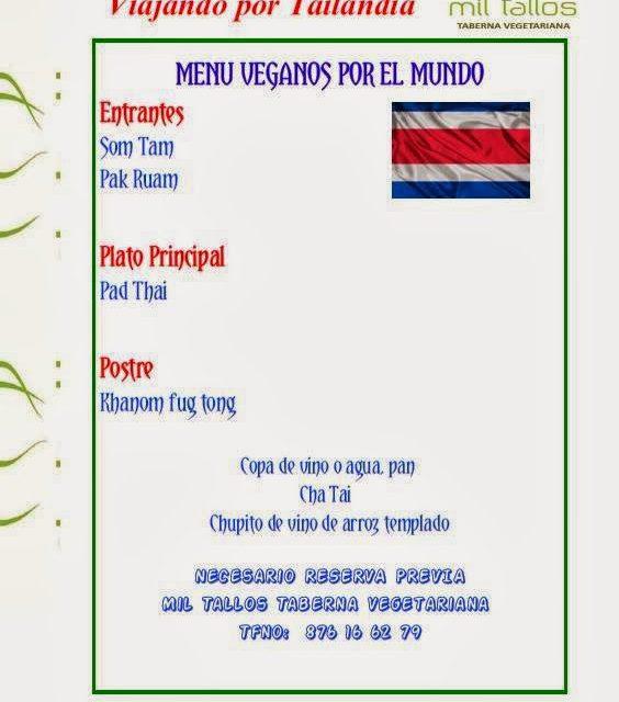 Cena vegana thailandesa (sábado, 25)
