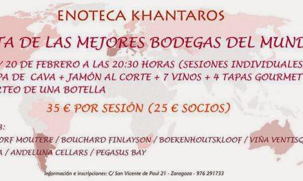 Cata de vinos del mundo (jueves 13 y 20)