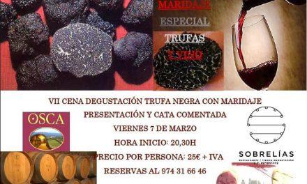 Cena maridada vino y trufa (viernes, 7)