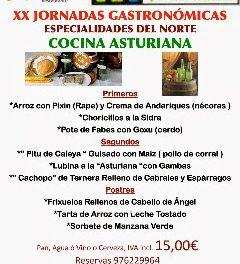 Semana de la cocina asturiana (del 10 al 15 de febrero)