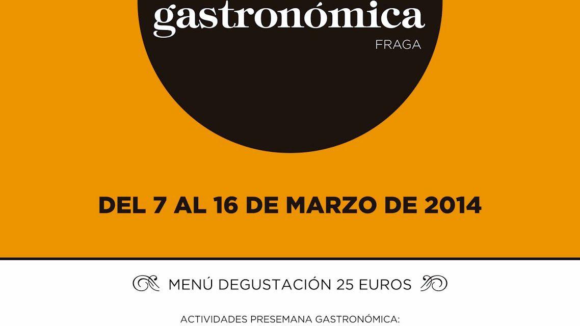 III Semana Gastronómica Ciudad de Fraga (del 7 al 16)