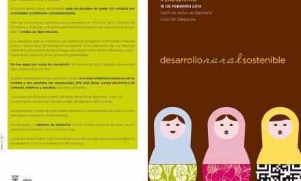 II ENCUENTRO: DESARROLLO RURAL SOSTENIBLE (miércoles, 19)