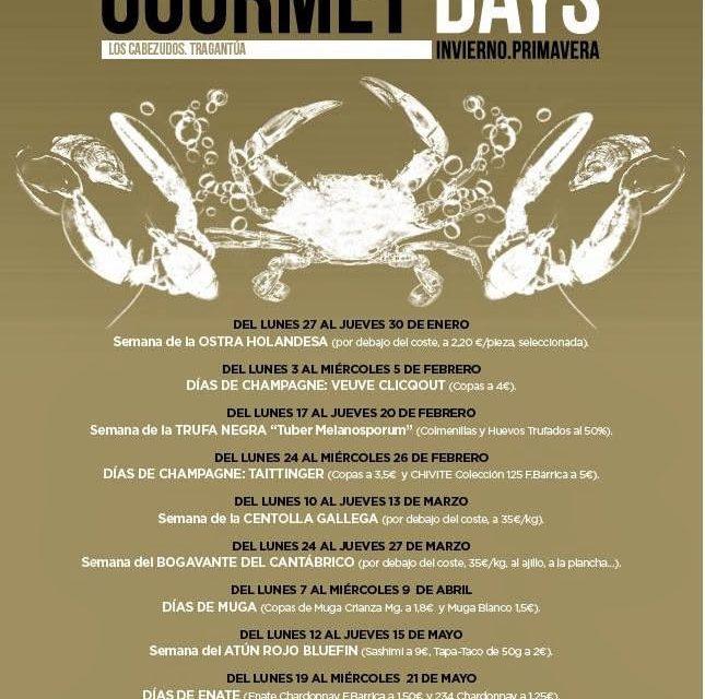 Gourmet Days (del 10 al 13 de marzo)
