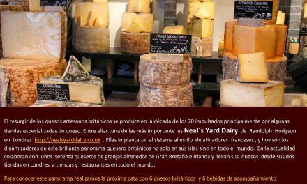 Cata de quesos artesanos británicos en La Rinconada del Queso (jueves, 13)