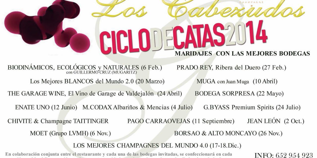 Cena cata maridada con los mejores blancos del mundo en  Los Cabezudos (jueves, 20)