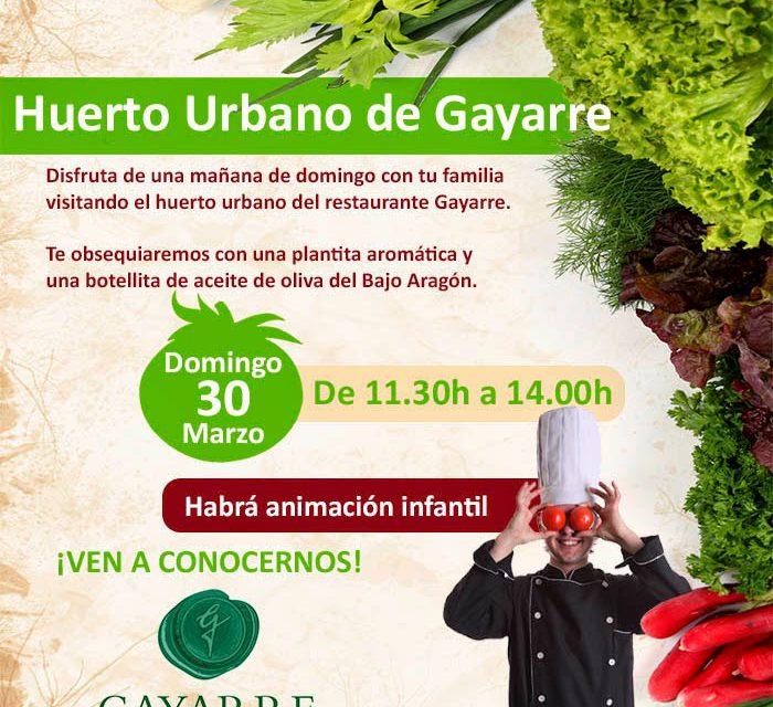 Visita al huerto urbano de Gayarre (domingo, 30)