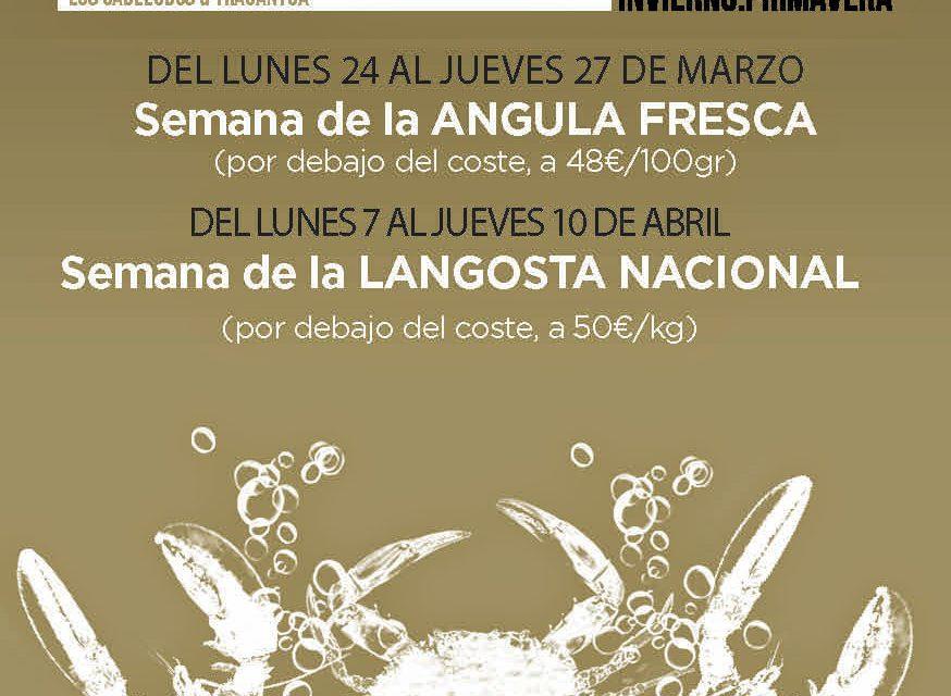 Gourmet Days con langosta nacional en Los Cabezudos y Tragantúa (del 7 al 10 de abril)
