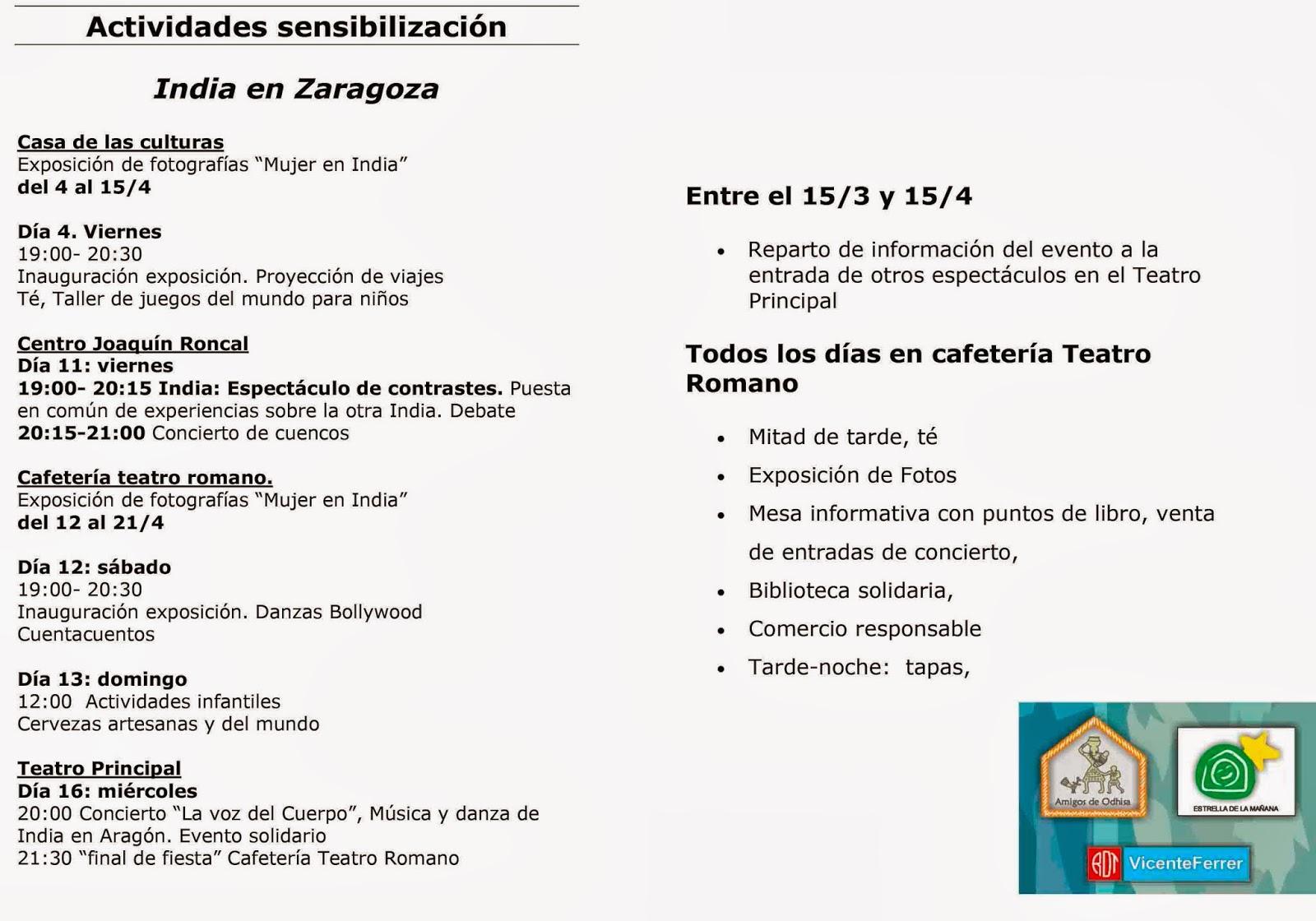 Jornadas India en Zaragoza (hasta el 15 de abril)