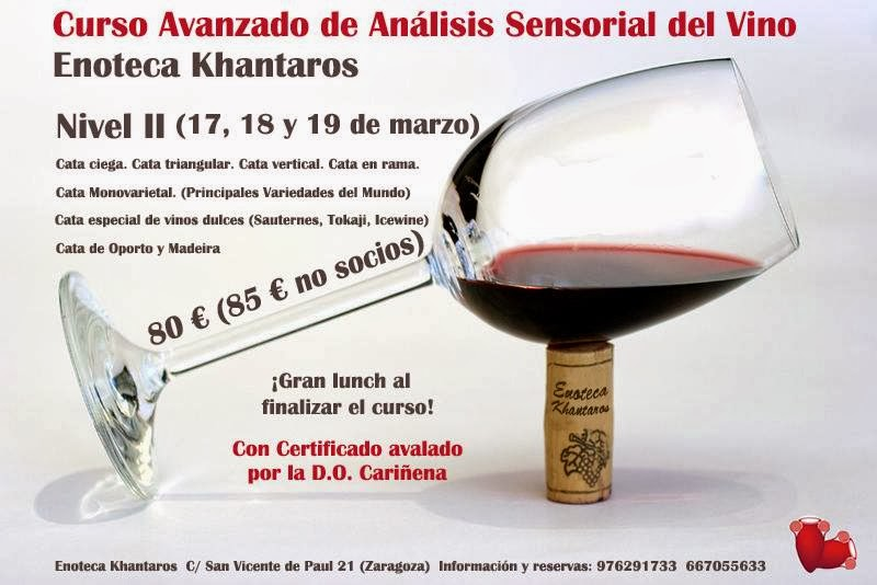 Curso avanzado de análisis sensorial del vino (del 17 al 19)