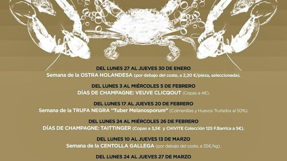 Gourmet Days con ANGULAS en Los Cabezudos y Tragantúa (del 24 al 27 de marzo)