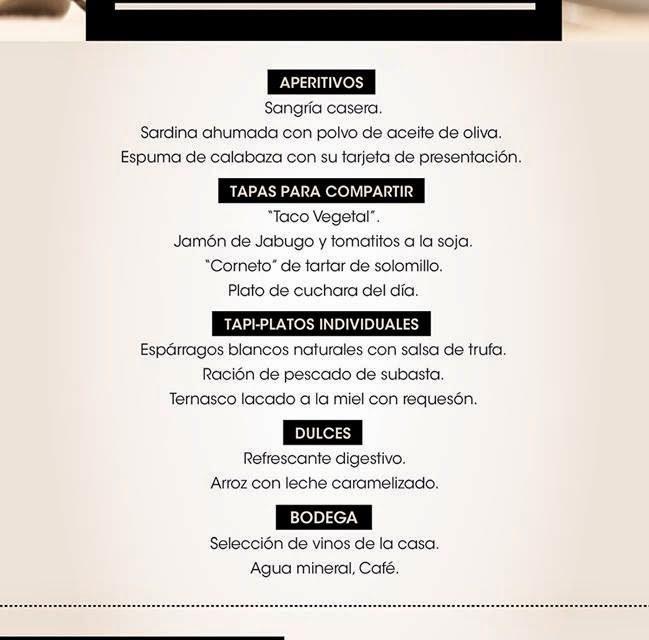 Menú Bocados en La Bastilla (hasta final de junio)
