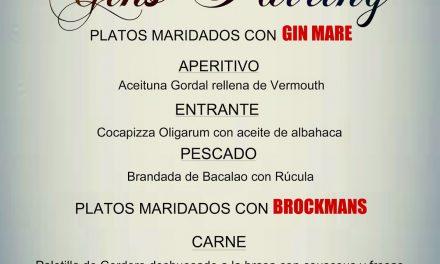Maridajes con gin-tonics (miércoles noche y viernes mediodía)