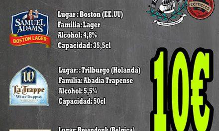 Cata de cervezas de importación (sábado, 12)