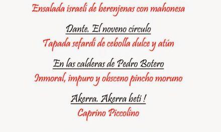 Primeras Jornadas gastronómicas satánicas en La Encantaria (del 23 de abril al 4 de mayo)