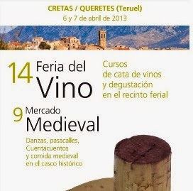 Feria del vino en Cretas (días 5 y 6 de abril)