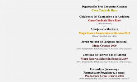 Cena cata maridada con Bodegas Muga en LosCabezudos (miércoles, 9)