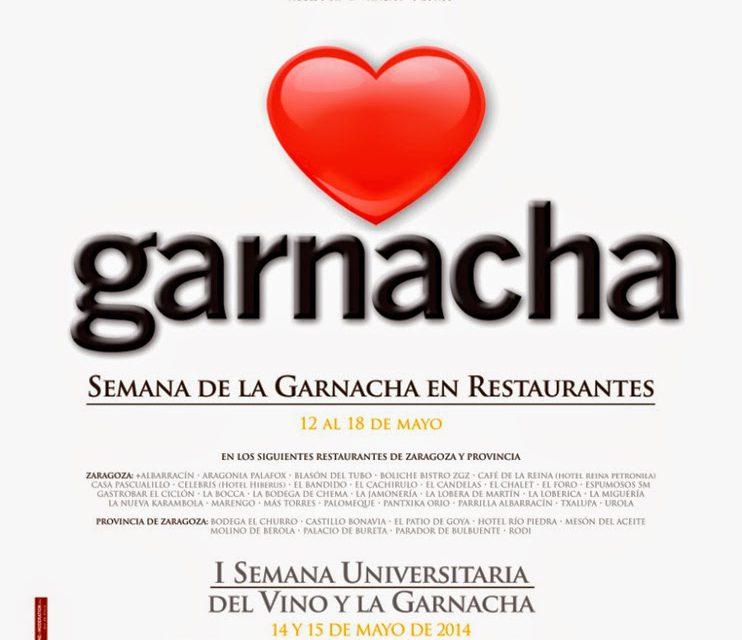 Semana gastronómica de la garnacha del Campo de Borja (del 12 al 18  de mayo)