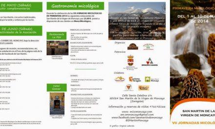 VII Jornadas Micológicas de Primavera 2014 (del 1 al 4, y 10 de mayo)