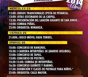 San Jorge y Fiesta de Primavera con Interpeñas (miércoles, 23, y sábado, 26)