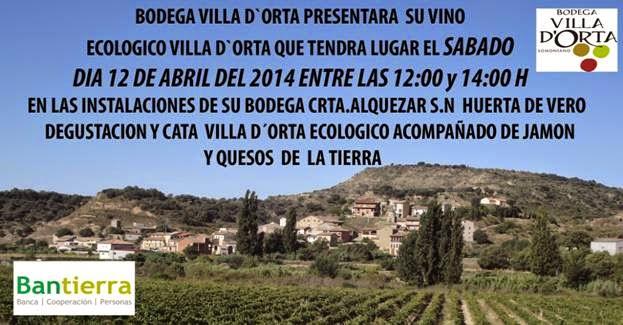 Presentación de vino ecológico (sábado, 12)