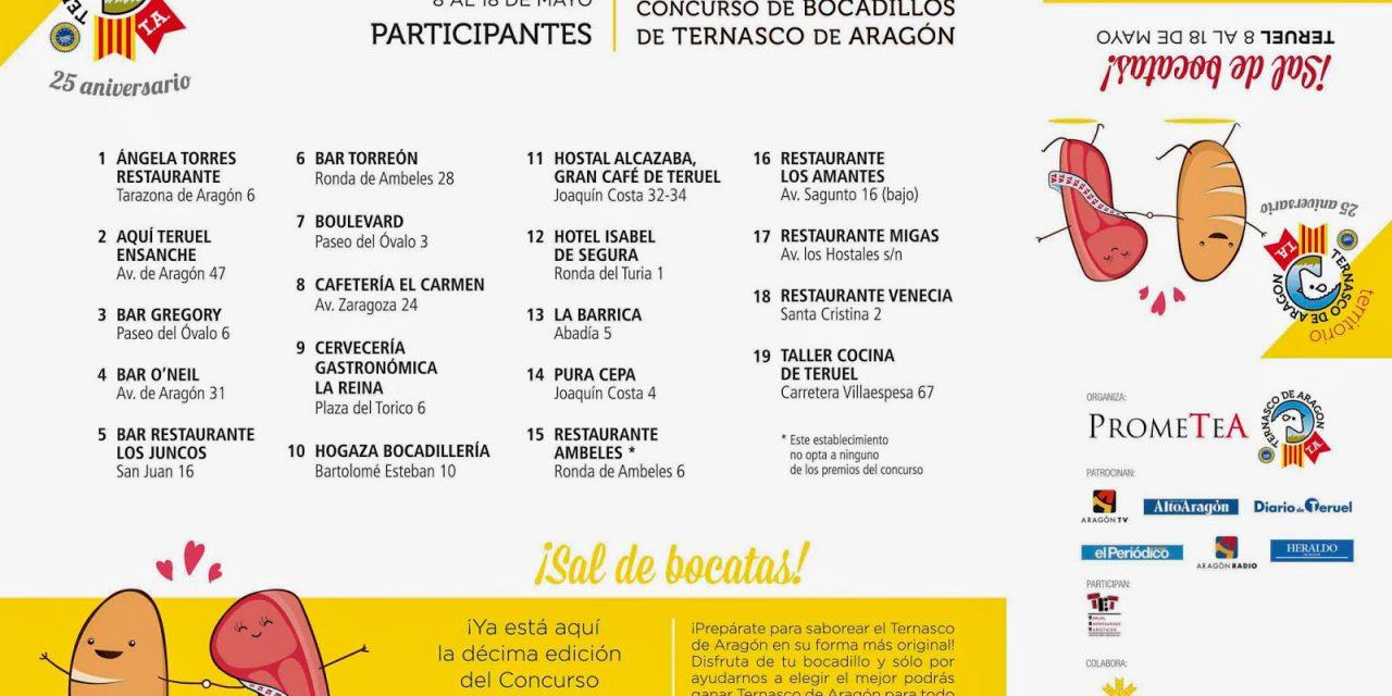 Concurso de bocadillos de Ternasco de Aragón en Teruel (del 8 al 18 de mayo)