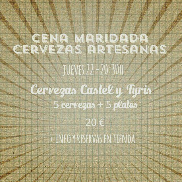 Cena maridada con cervezas en BUEN GUSTO (jueves, 22)