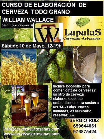 Curso de elaboración de cervezas todo grano (sábado, 10 de mayo)