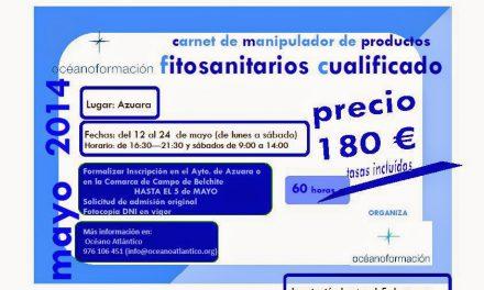 Curso de manipulador de productos fitosanitarios cualificado (del 12 al 24 de mayo)