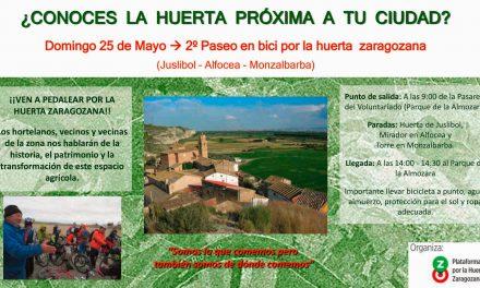 2º Paseo en bici por la Huerta de Zaragoza, (domingo 25)