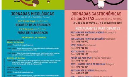 Jornadas micológicas (días 24, 25 y 31 de mayo; 1, 7 y 8 de junio)