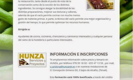 Taller en Torrecilla de Alcañiz de Introducción a la Cocina en Vacío (lunes 26)
