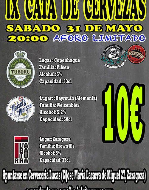 IX Cata de cervezas internacionales (31 de mayo)