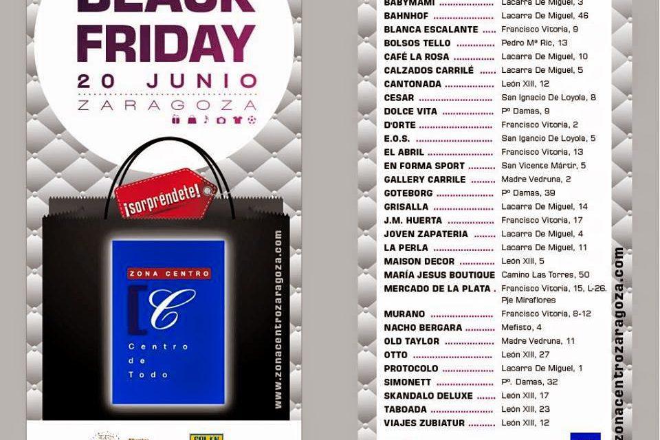 Black Friday en Zaragoza (viernes, 20)