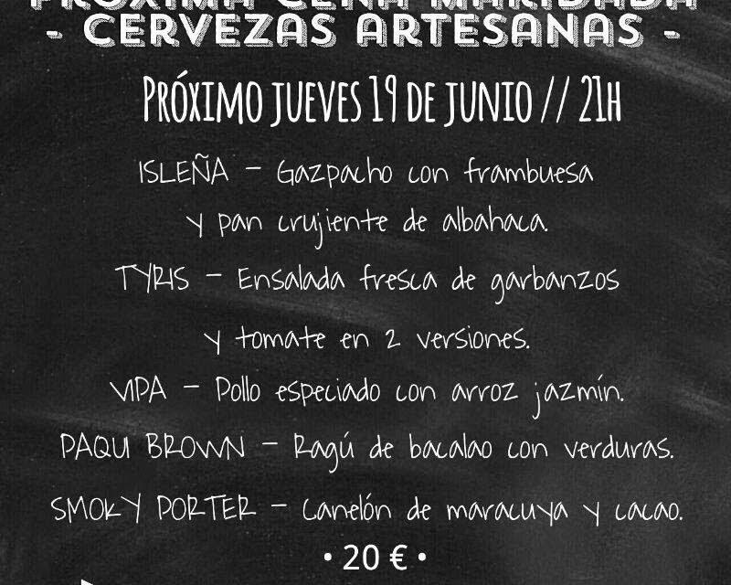 Cena maridada con cervezas artesanas en BUEN GUSTO (jueves, 19)