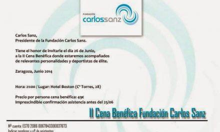II Cena Benéfica Fundación Carlos Sanz (jueves 26)