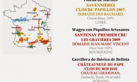 Cena cata maridada en Los Cabezudos: Un paseo por Francia (jueves, 3 de julio)