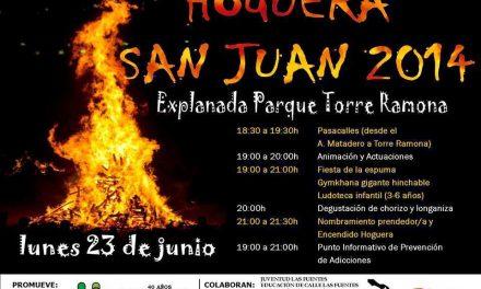 Hoguera de san Juan (lunes, 23)
