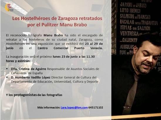 'Hostelhéroes', homenaje fotográfico a los hosteleros de Zaragoza (del 23 al 29)