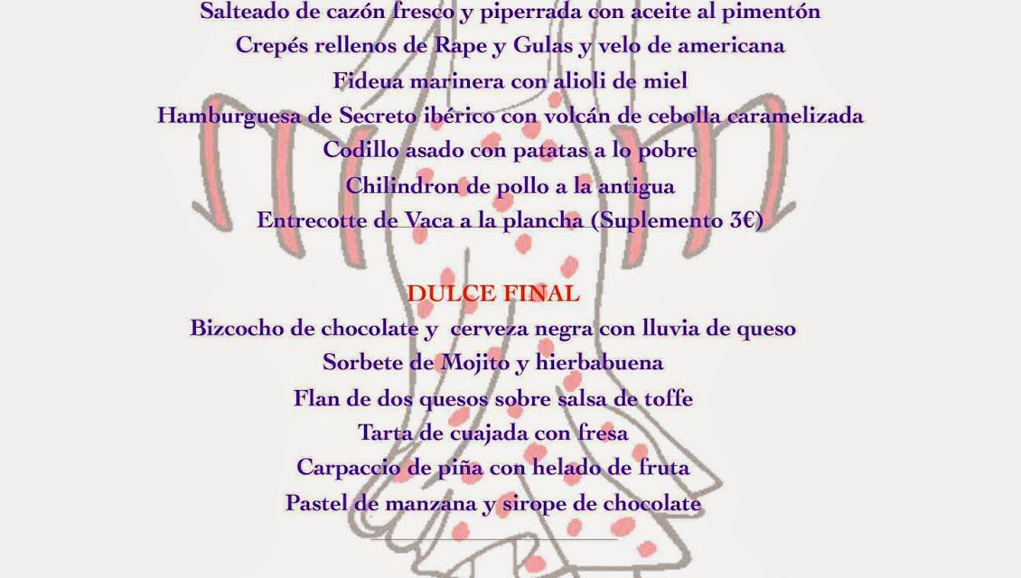 Menú de verano en María Morena (hasta agosto)